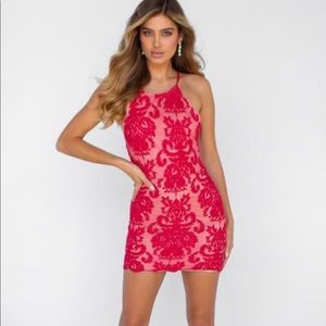 Xenia Inka Lace Dress in Red